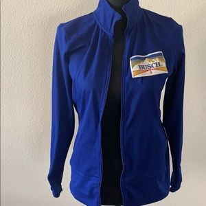 Champion blue ladies long sleeve zip up jacket